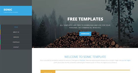 Templates on pinterest for Free dreamweaver cc templates