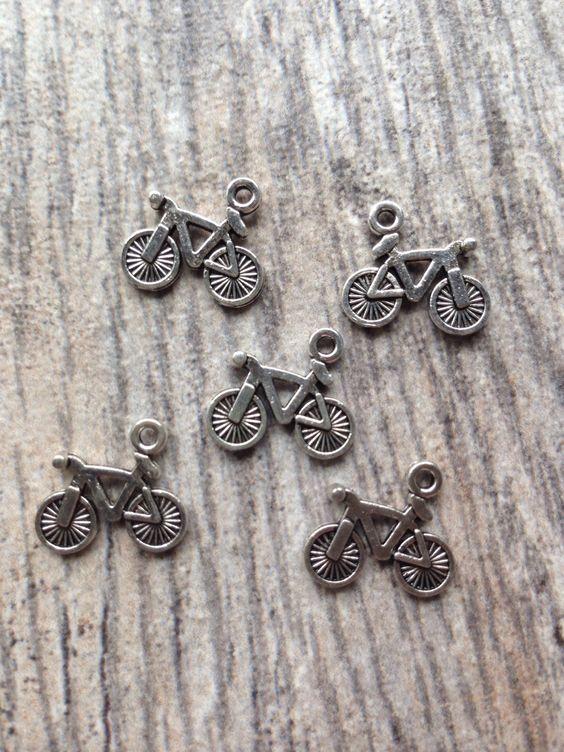 bike charms... I saw these made the cutest jewelry on Mackinac Island!