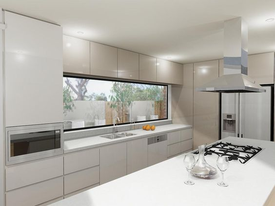 Fixed frame steel window - Steel Windows Australia Kitchens