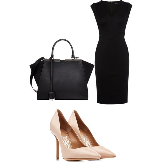 A fashion look from February 2015 featuring Karen Millen dresses, Salvatore Ferragamo pumps and Fendi handbags. Browse and shop related looks.