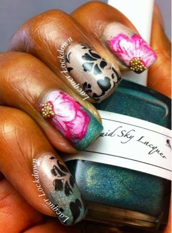W-04 http://www.lacquerlockdown.com/2013/10/floral-appeal-feat-liquid-sky-lacquer.html