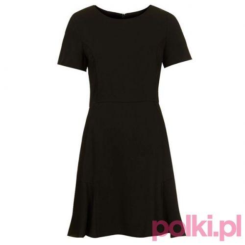 Czarna sukienka, Topshop #polkipl