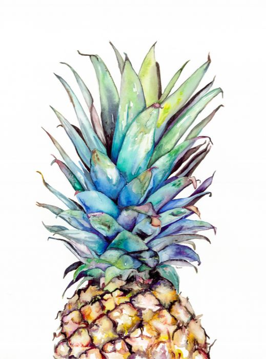 pineapple painting. Pineapple Watercolor #Etsy | Ananas Pinterest Watercolor, Etsy And Art Painting