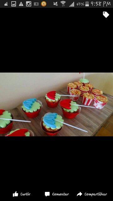Cup cakes- Chuva de bênçãos