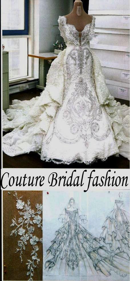 Royal Swarovski crystals wedding couture от CoutureBridalFashion