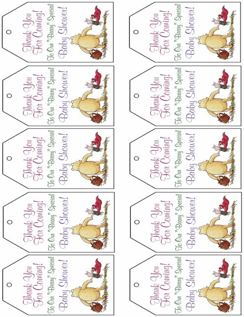 winnie the pooh  tags and gift tags on pinterest Tigger Clip Art at the Beach Thank You Clip Art Disney