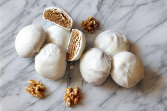 White Chocolate-Covered Walnuts- yogurt next?