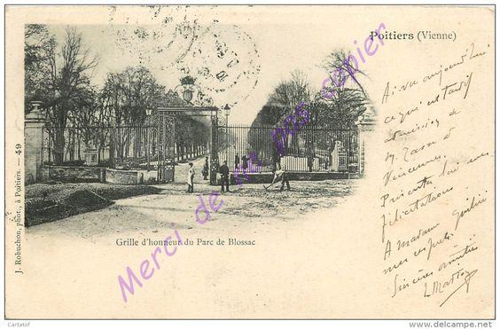 POITIERS - PARC DE BLOSSAC - Date photo inconnue.