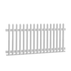 Barrette Select 48-in x 8-ft White Gothic Picket Vinyl Fence Panel