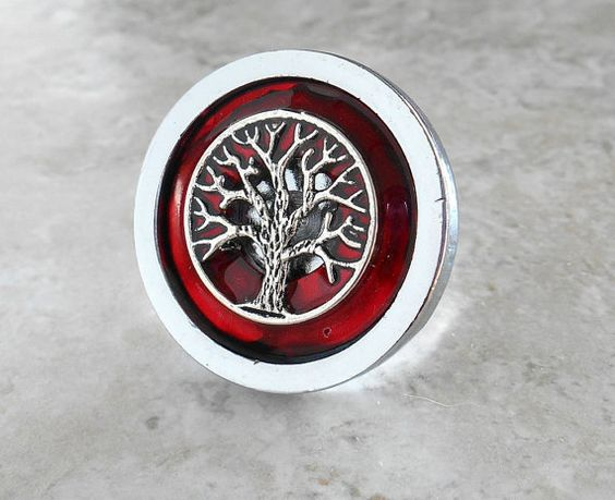 drawer pull: red wine  cabinet knob  cabinet pull by NatureWithYou