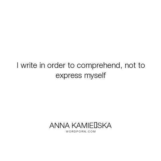 How can i express myself in writing?