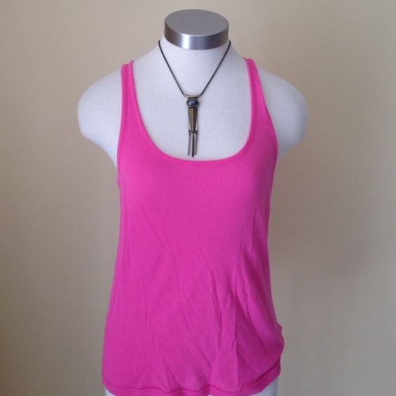 Lilly Pulitzer pink puma cotton tank! Versatile and perfect for layering. Pima cotton Lilly Pulitzer Tops Tank Tops