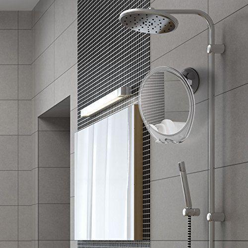 Bathroom Shower Mirror With Razor Hook For Anti Fog Shaving