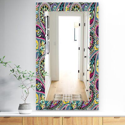 East Urban Home Paisley 11 Wall Mirror Wayfair In 2020 Mirror Wall Eclectic Wall Mirrors Contemporary Wall Mirrors