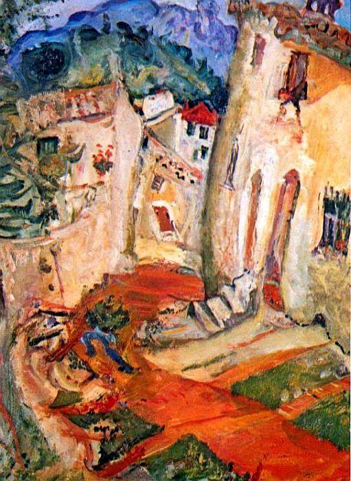 Chaim Soutine   Rue à Cagnes, 1924: