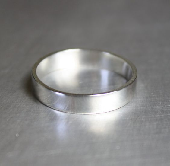 Simple Ring Plain Silver Ring Silver Band by JenniferWoodJewelry: