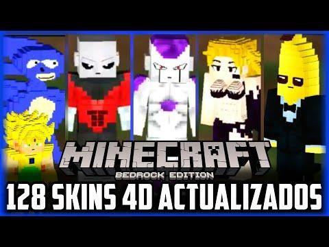 Pack De Mas De 128 Skins 4d Para Minecraft Pe Bedrock Marvel Dragon Ball Fortnite Monsterdroiid Minecraft Pe Minecraft Bedrock Minecraft