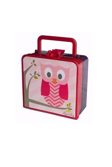 Adorable bento style lunch box for little ones and not so little ones.  Not only great for litterless lunches, but has pre-measured compartments so you know how many servings of fruits and veggies they are getting.