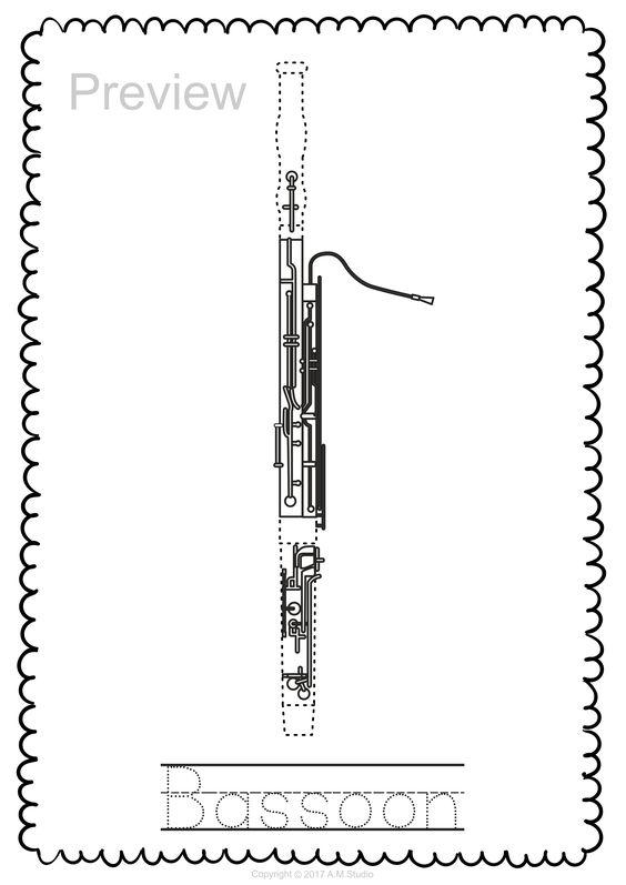 malvorlagen instrumente excel  tiffanylovesbooks