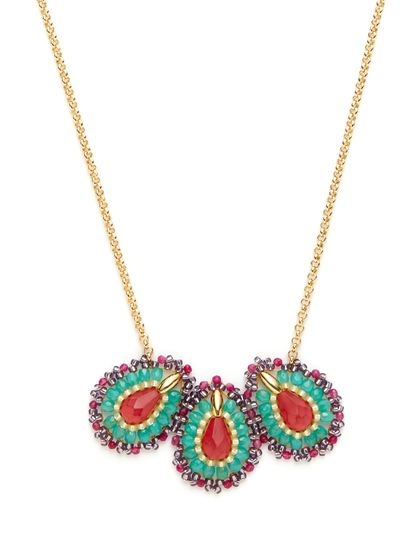 miguel ases | Cherry Triple Teardrop Necklace: