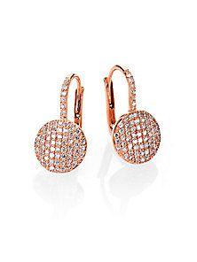 Phillips House - Affair Diamond & 14K Rose Gold Petite Infinity Earrings