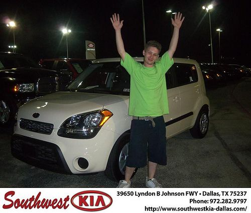 Happy Anniversary to Shirley Garrison on your 2012 Kia Soul from Jose Valverde and everyone at Southwest Kia Dallas!