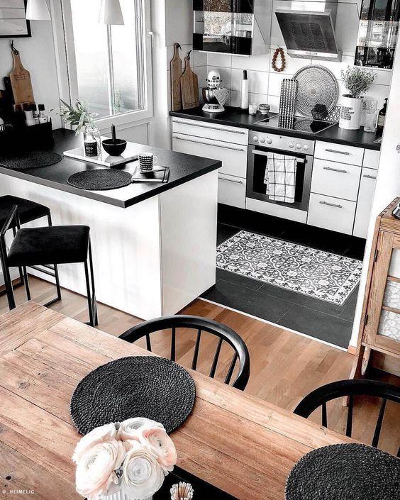 cuisine avec tapis