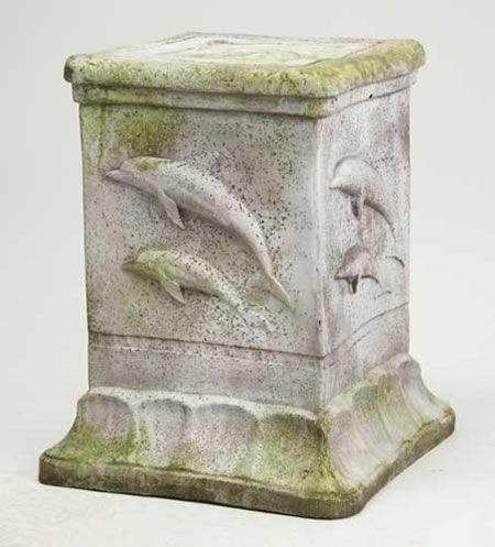 Dolphin Outdoor Garden Pedestal Available at AllSculpturescom