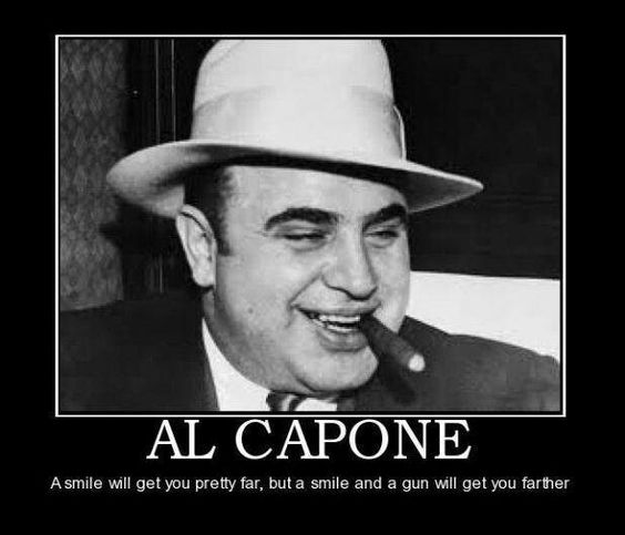 al capone speech Hard-luck con earl johnson's tales from the big house, from such crime superstars as al capone and the birdman tales from the big house: al capone and other alcatraz cons - rolling stone.