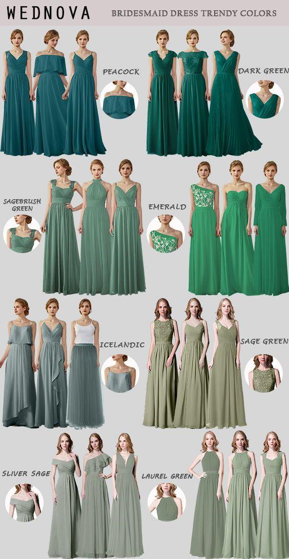 Shades Of Green Chiffon Long Bridesmaid Dresses Green Bridesmaid Dresses Bridesmaid Dress Shades Bridesmaid Dress Green Shades