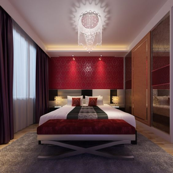 Dark Red Paint Bedroom - Master Bedroom Furniture Ideas Check more at http://maliceauxmerveilles.com/dark-red-paint-bedroom/