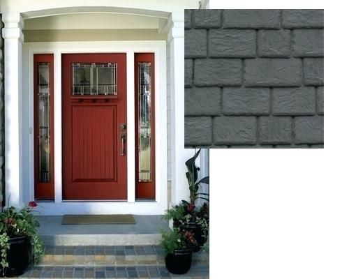 Google Image Result For Http Tintucthoisu Info Wp Content Uploads 2019 04 Dark Gray Front Door Fro Red Front Door Painted Front Doors Front Door Paint Colors