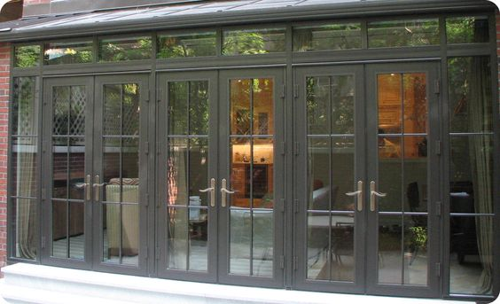 French doors doors and french on pinterest for Residential front doors with glass