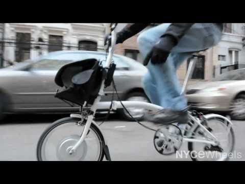 Electric Brompton Folding Bike: the most compact electric folding bike http://www.nycewheels.com/brompton-electric-bike.html