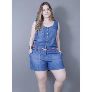 Macaquinho em Jeans Milena