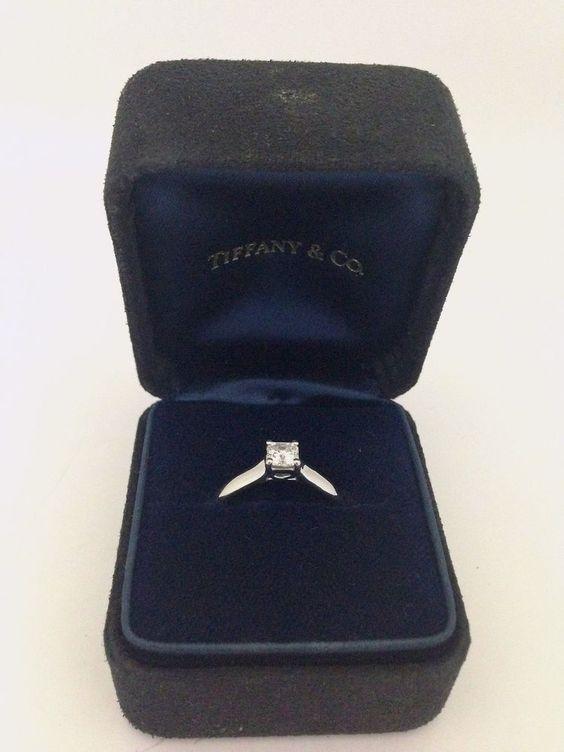 Tiffanys & Co. 0.36ct Platinum and Dia. Lucida Engagement Ring - E, VS1 #TiffanyCo