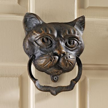 Foundry iron door knocker cast from a Victorian original. I want one of everything from Design Toscano.: