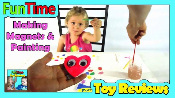 DIY Kids Magnet Making and Painting With Dad