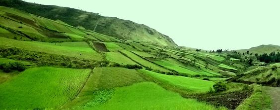 Green valley near Ibarra, Ecuador great for hikers