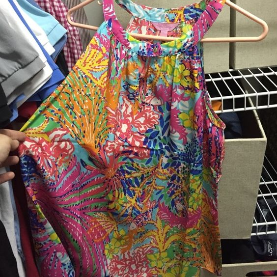 """Lilly Rogan Top """"Fishing for Compliments"""" print. Brand new with tags!! Lilly Pulitzer Tops"""