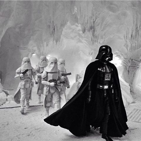 Darth Vader invading the rebel base on Hoth #StarWars