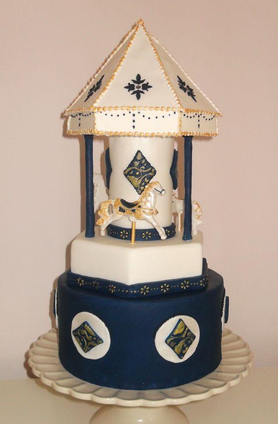 - hand painted carousel cake