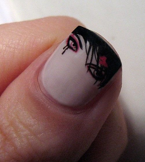 EMO nail designs | EMO nail designs 2013 | Pretty easy nail designs |  Pretty nail designs tumblr | Pretty nail designs for kids | Pretty nail  designs 2013 - Emo, Nails And Nail Designs For Kids On Pinterest