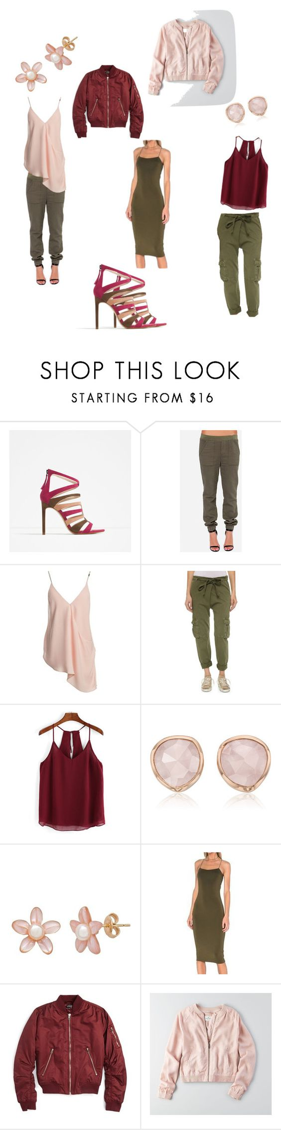 """""""Ideas for my new shoes!!!"""" by mika74 ❤ liked on Polyvore featuring Zara, Sans Souci, Current/Elliott, Monica Vinader, Topshop and American Eagle Outfitters"""