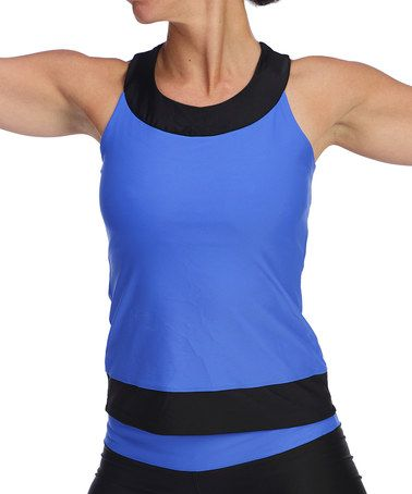 Take a look at this Royal Blue Madeline Tank - Women by ena yoga apparel on #zulily today!