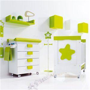 Cuna beb mueble ba era cambiador con detalles verdes desc brelo en el outlet online de - Cambiador de bb ...