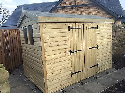 details about garden shed tanalised heavy duty 10x8 apex 13mm tg 3x2