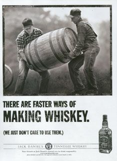 jack daniels advert showing the workers caring photos