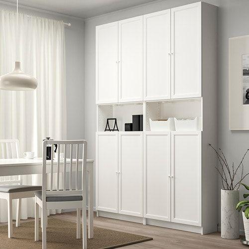 Billy Oxberg Bucherregal Mit Aufsatz Turen Weiss Ikea Deutschland Billy Bookcase With Doors Bookcase Door Ikea Billy