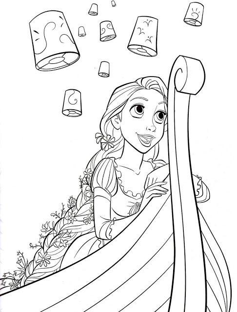 Kumpulan Mewarnai Gambar Rapunzel Halaman Mewarnai Buku